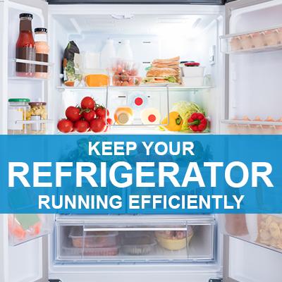 refrigerator running efficiently